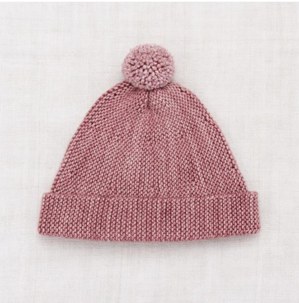 Misha and Puff Garter Hat in Antique Rose