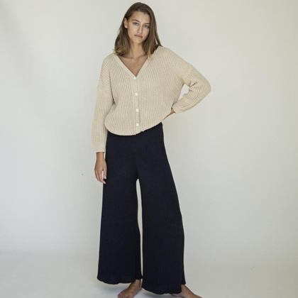 Summer & Storm Womens Wide Knit Pant