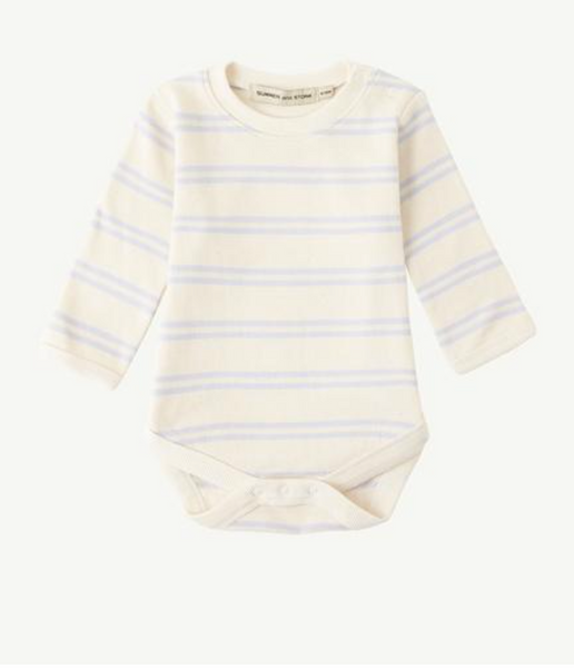 Summer & Storm Ribbed LS Body in Powder Blue Stripe