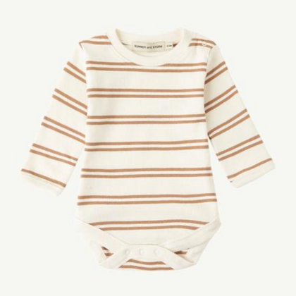 Summer & Storm Ribbed LS Body in Powder Tan Stripe