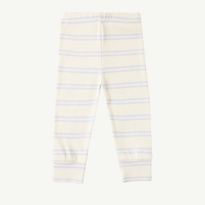 Summer & Storm Ribbed Leggings Powder Blue Stripe