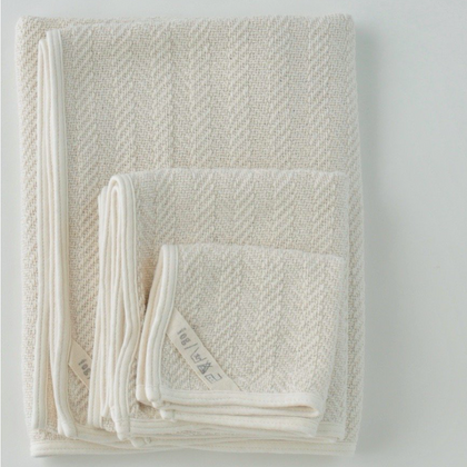 Fog Linen Herribone Cotton Towel