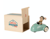 Maileg Mouse Car with Garage in Blue