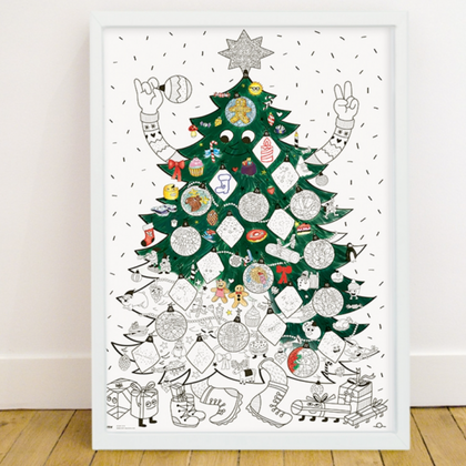 omy Christmas Giant Coloring Poster