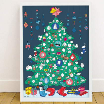 omy Christmas Sticker Coloring Poster