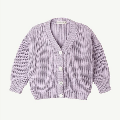 Summer & Storm Chunky Cotton Cardigan - Lavender