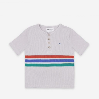 Bobo Choses Striped Buttoned T-Shirt