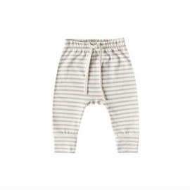 Quincy Mae Drawstring Pant Grey Stripe