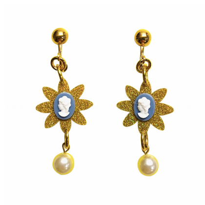 Gunner & Lux Cameo Earrings
