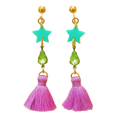 Gunner & Lux Bling Tassel Earrings