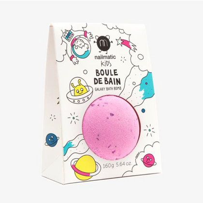Nailmatic Cosmic Crackling Bath Bomb in Pink