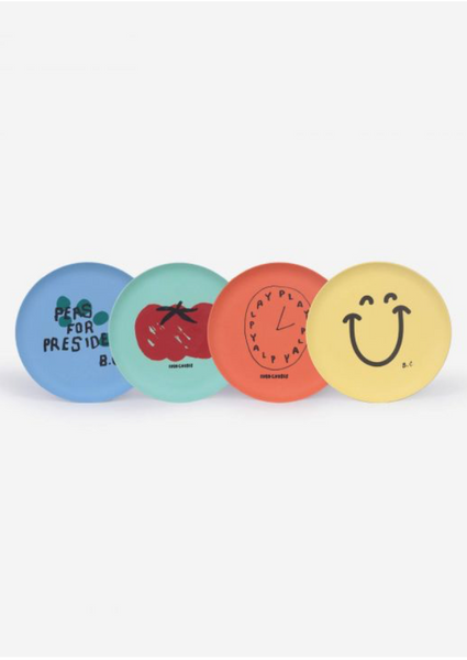 Bobo Choses 4 Pack of Bamboo Plates