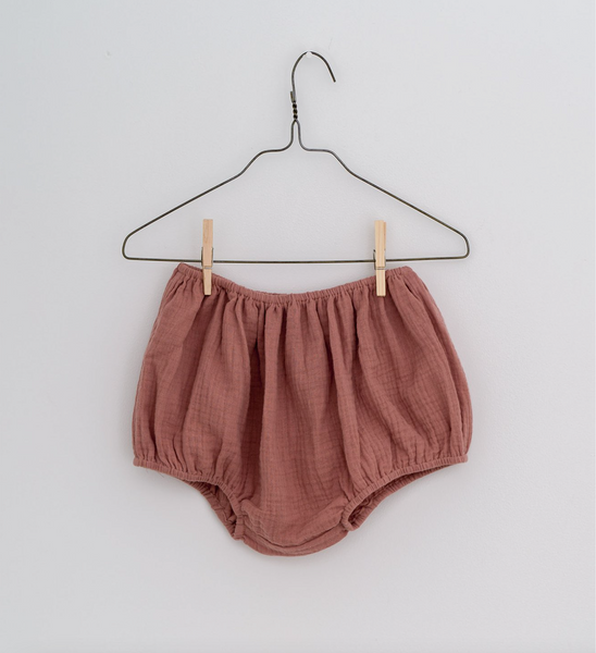 Little Cotton Clothes Charlie Bloomers. - Old Rose Muslin
