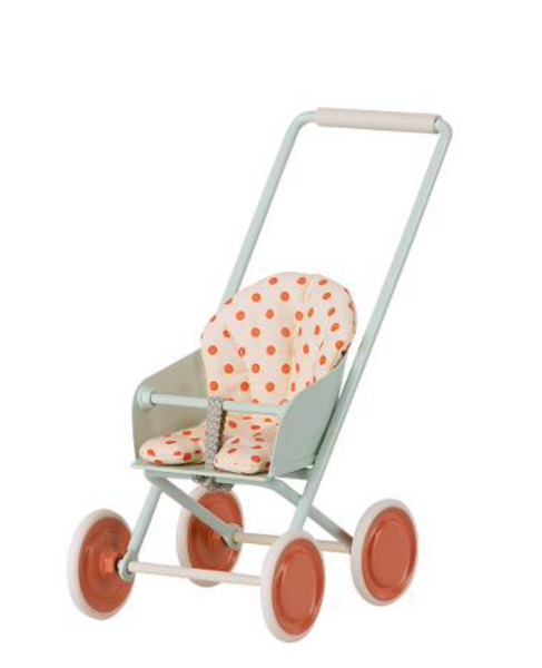 Maileg Metal Stroller in Sky Blue