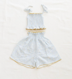 Fin & Vince Smocked Culotte in Daisy Fields