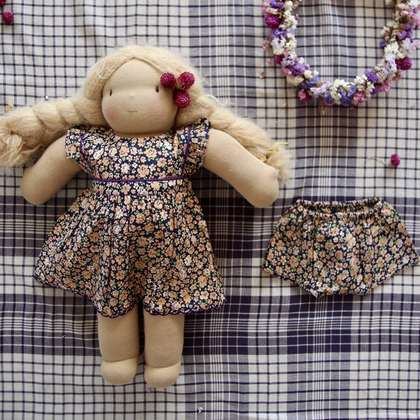 Bonjour Diary Small Violets Doll Dress