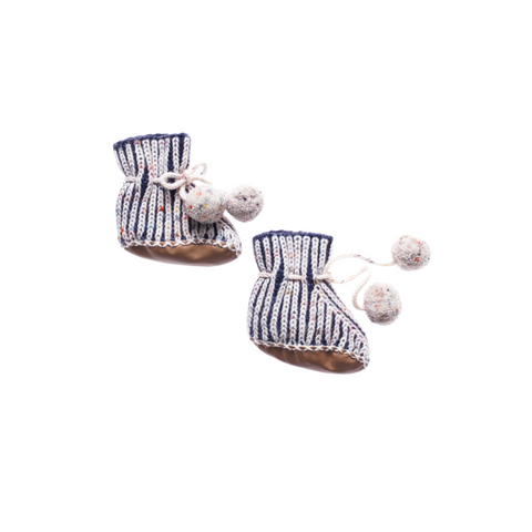 Misha and Puff Scout Pom Pom Booties / Ink