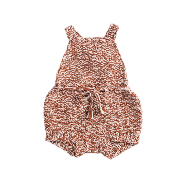 Misha and Puff Starfish Sunsuit / terracotta