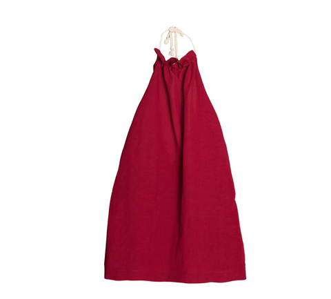 Little Creative Factory Apron Dress in Garnet