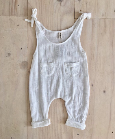 Yoli and Otis Runaway Overalls in White