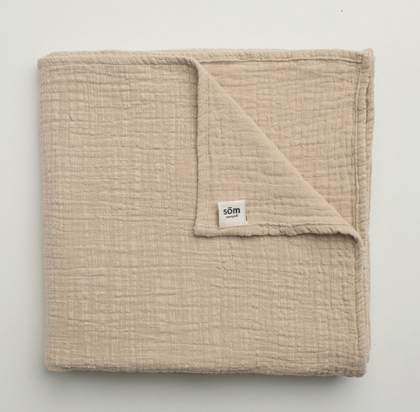 Som New York Swaddle Blanket in Cream