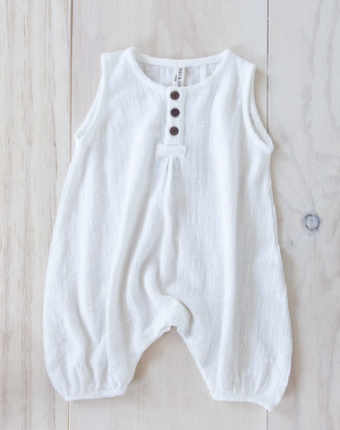 Yoli and Otis Roussey Romper in White