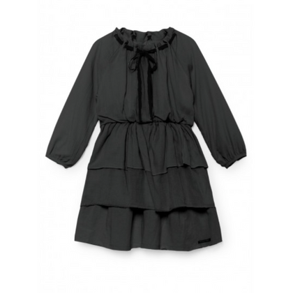 Little Creative Factory Ona's Layered Dress - Charcoal