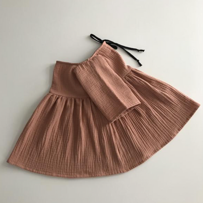 Liilu Kids Liilu Dress in Rose Nude