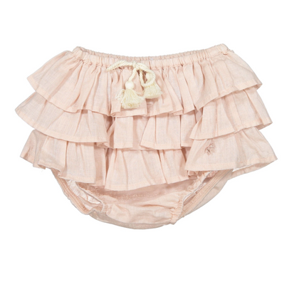 Tocoto Vintage Pink Ruffle Bloomer