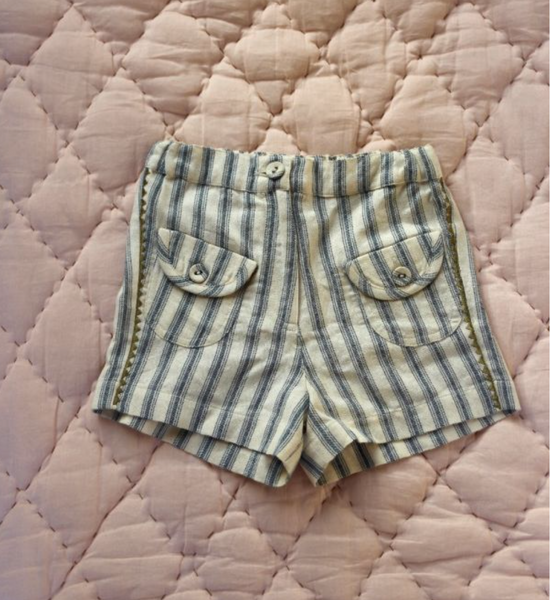 Bonjour Diary Shorts in Mattress Stripe