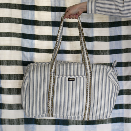 Bonjour Diary Weekend Travel Bag in Mattress Stripe