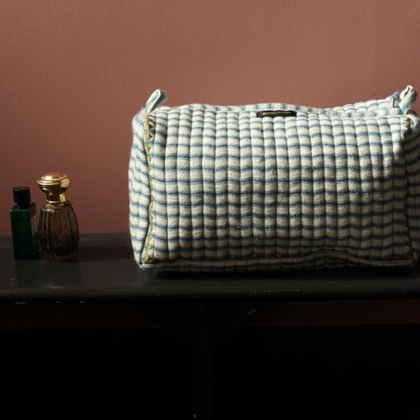 Bonjour Diary Toiletries Bag in Mattress Stripe