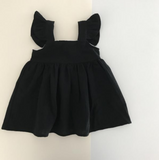 Liilu Kids Pinafore Dress in Black