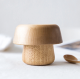 Dove and Dovelet Wood Mushroom Bowl Set