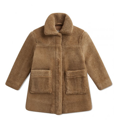 Repose AMS Faux Fur Coat in Camel