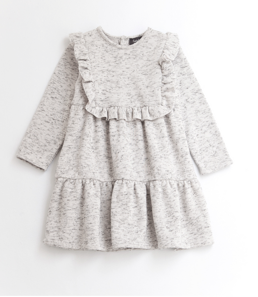 Tocoto Vintage Plush Dress in Grey