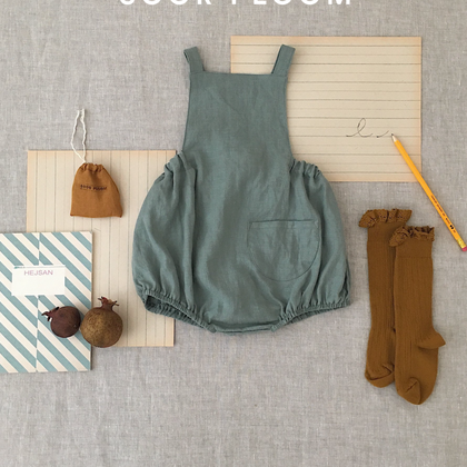 Soor Ploom Oona Romper in Juniper Linen
