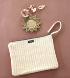 Bonjour Diary Quilted Corduroy Clutch