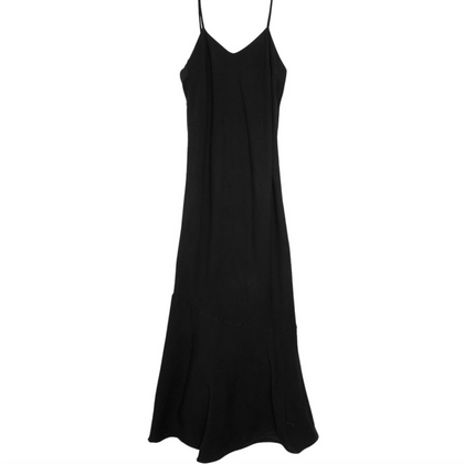 Nico Nico Rayon Bias Slip Dress in Black