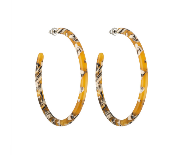 Machete Large Hoops in Calico