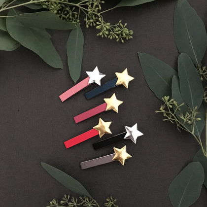 Lulu Loves Rose with Gold Star Clips
