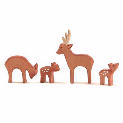 Ostheimer Wooden Roe Deer Family