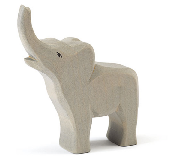Ostheimer Wooden Small Elephant Trumpeting