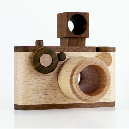 FF Vintage Wooden Toy Camera with Kaleidoscope Lens