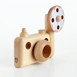 FF Vintage Style Wooden Toy Camera with Flash