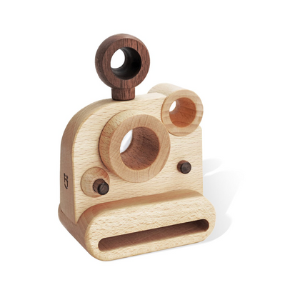 FF Polaroid Style Wooden Toy Camera with Kaleidoscope Lens
