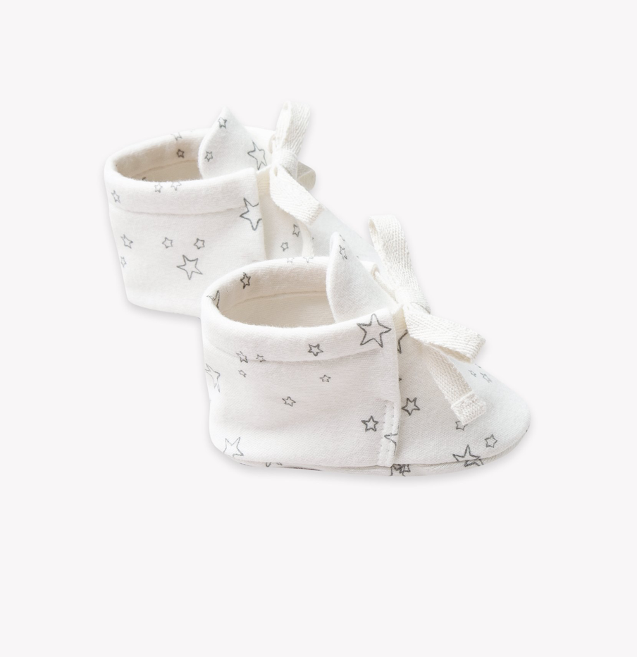 f6a1ef71f08 Quincy Mae Organic Baby Boots in Ivory