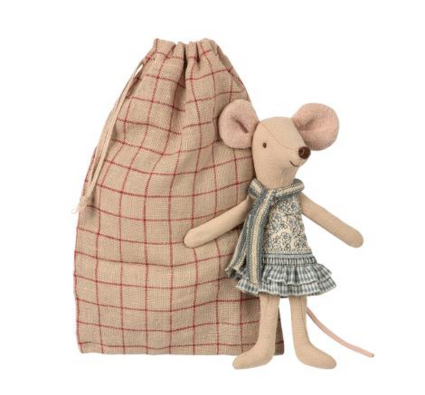 Maileg Winter Mouse Big Sister in a Bag