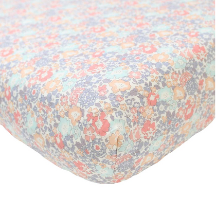 Coco & Wolf Liberty Print Crib Sheet - Michelle Pink