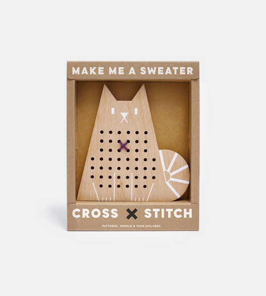 Moon Picnic Cat Cross Stitch